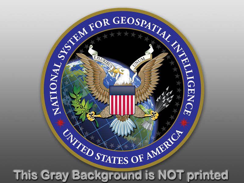 Round NSGI Seal Sticker decal logo car us intelligence