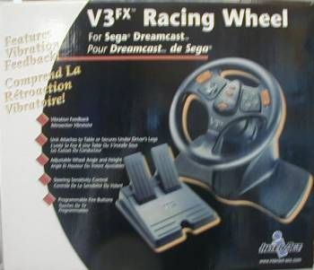 NEW Driving Racing Steering Wheel for Sega Dreamcast