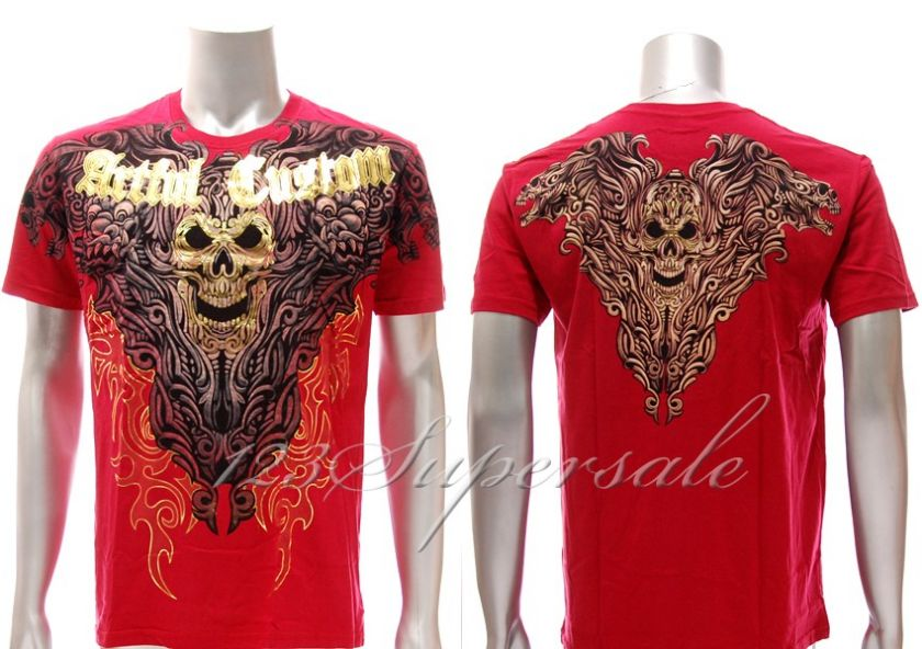 Artful Couture T shirt Sz XL Tattoo Graffiti Retro a30