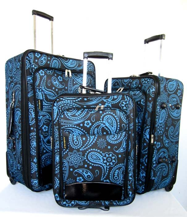Piece Luggage Set Travel Bag Rolling Case Wheel Upright