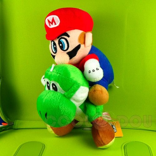 New Super Mario Bros Yoshi+Mario Plush Doll Figure Toy