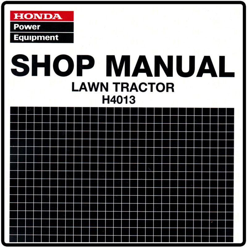 honda h4013 4013 lawn tractor service repair manual 6175861 rh popscreen com Honda Riding Mower Deck Honda 4514 Riding Lawn Mowers