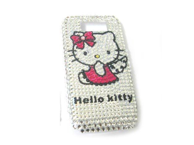 Hello kitty hard Rhinestone Bling Case Cover Nokia E63